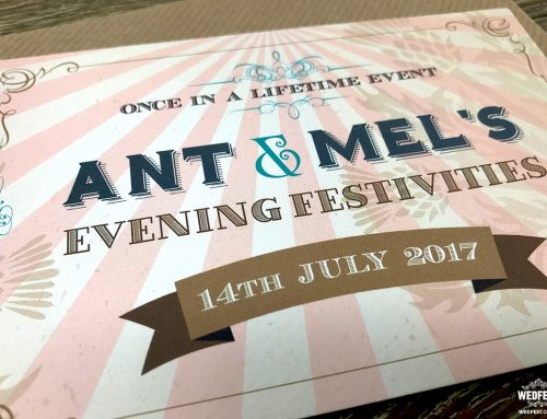 Vintage Festival Ticket Wedding Invitations