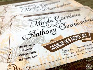 zoo animal vintage ticket wedding invites