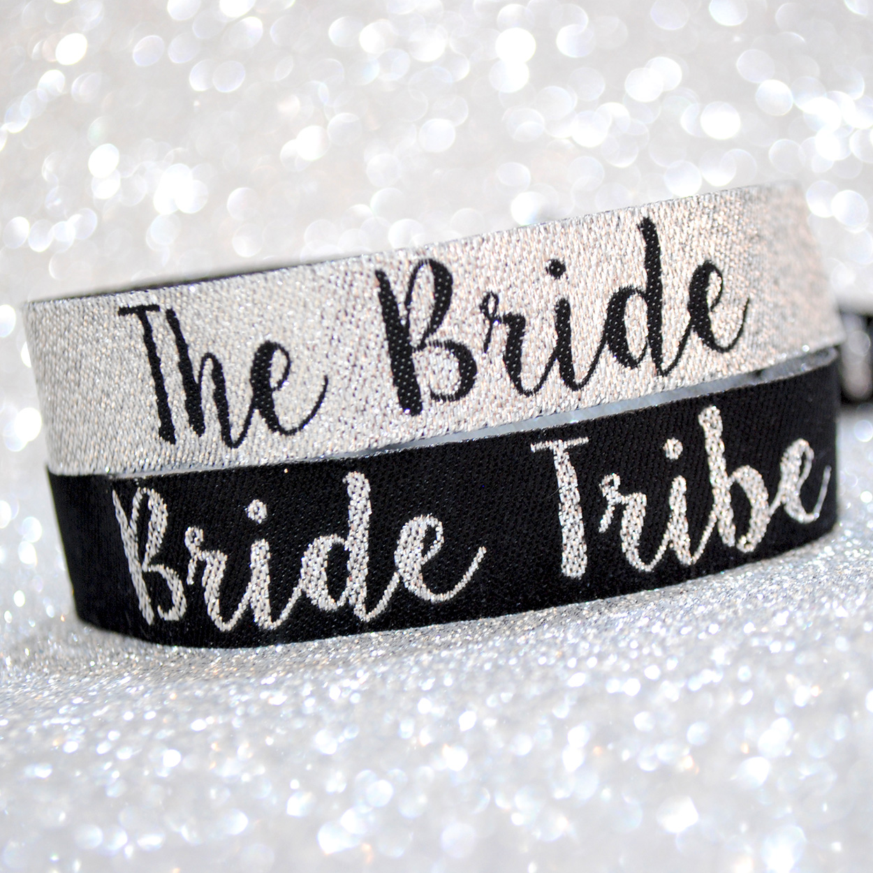 beautiful silver bride tribe hen party accessories