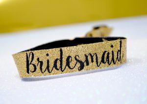 bridesmaid bachelorette hen party wristband favour
