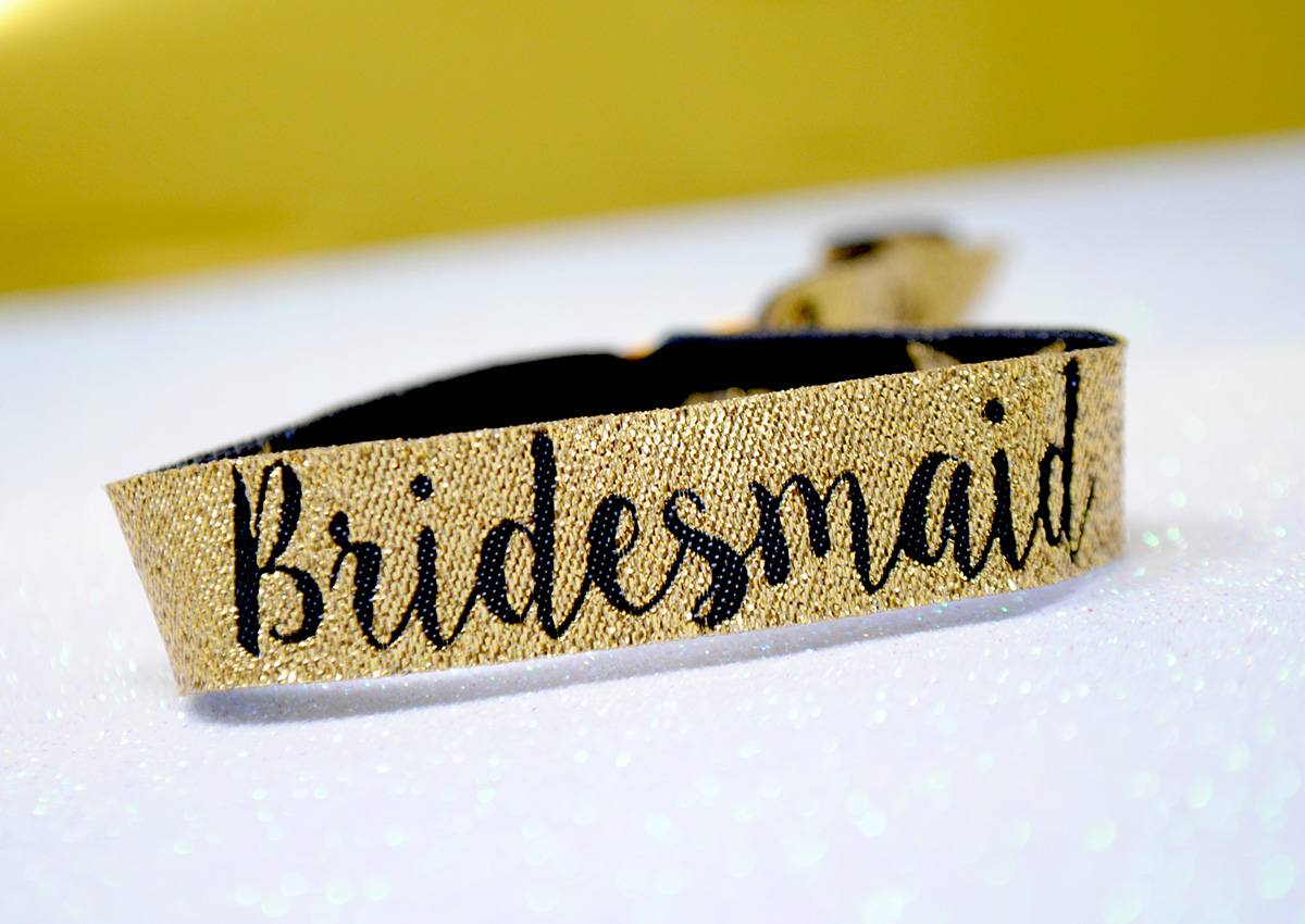 bridesmaid bachelorette hen party wristband favour