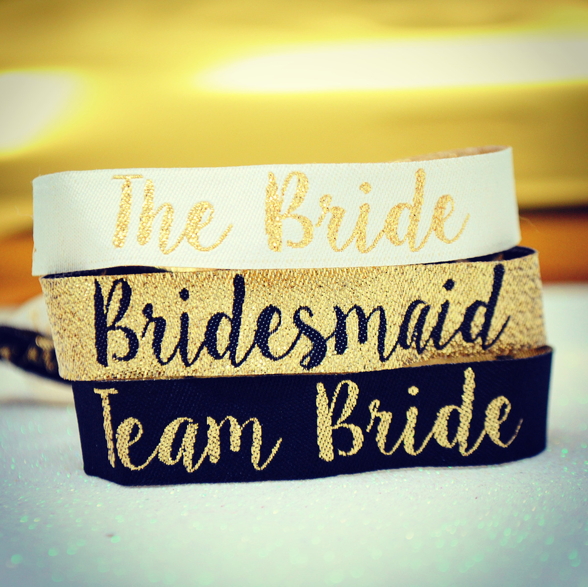 bridesmaids hen party wristbands bride tribe team bride