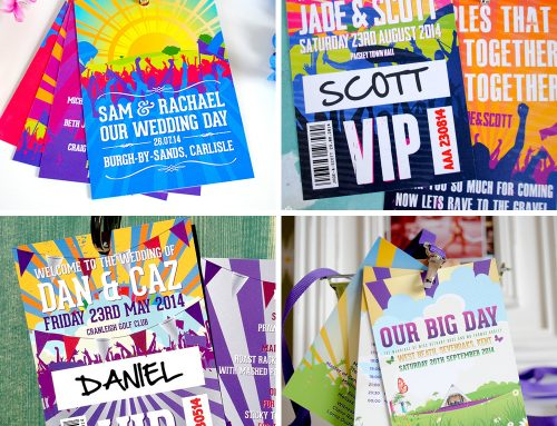Festival Wedding Lanyards for music-mad couples