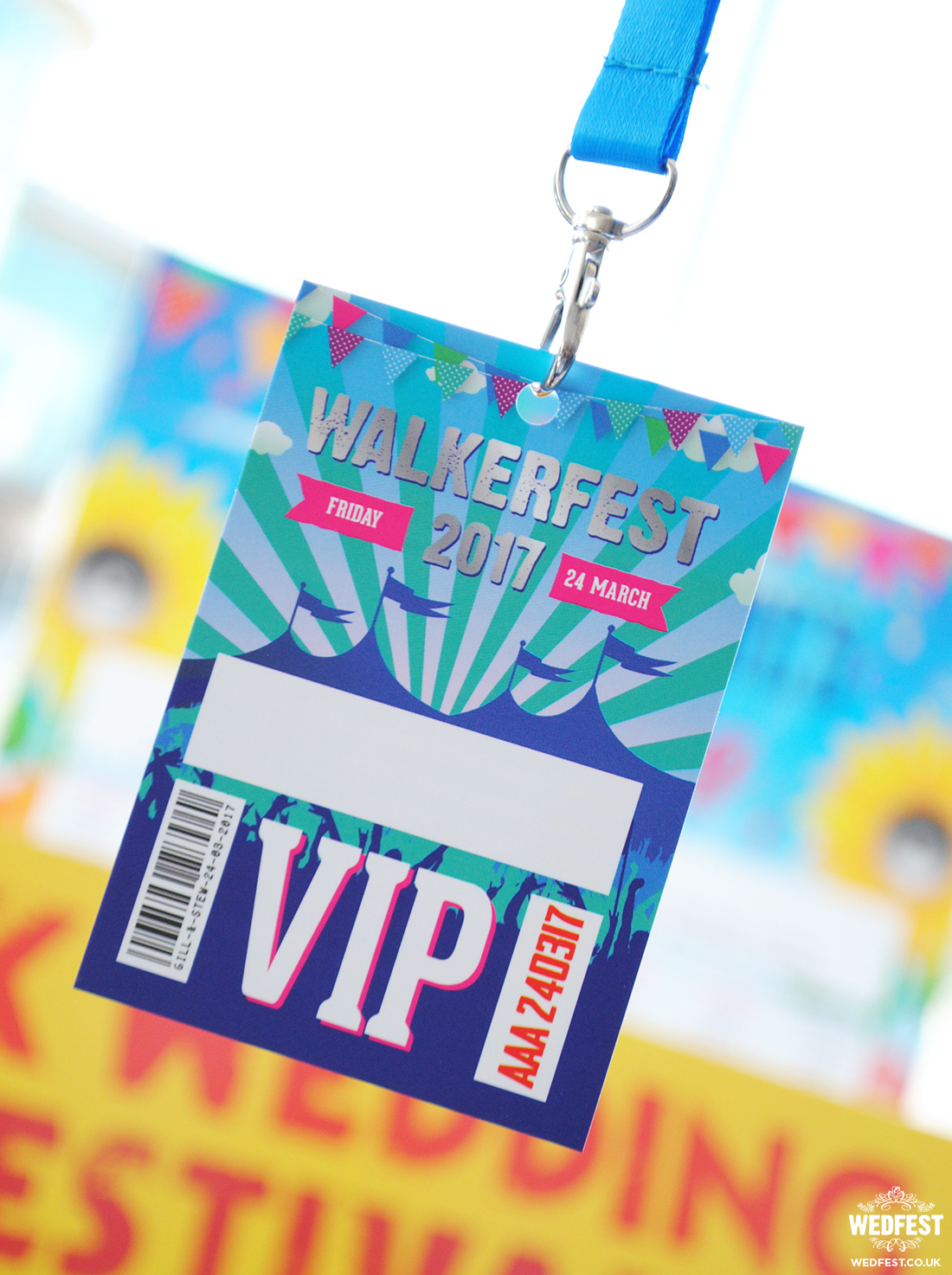 festival wedding vip lanyard
