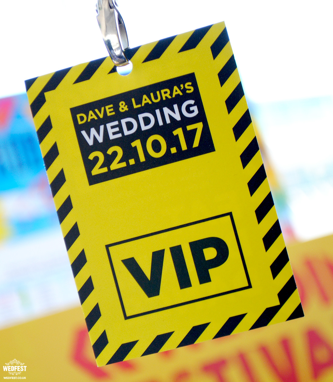 hacienda manchester wedding vip lanyard program