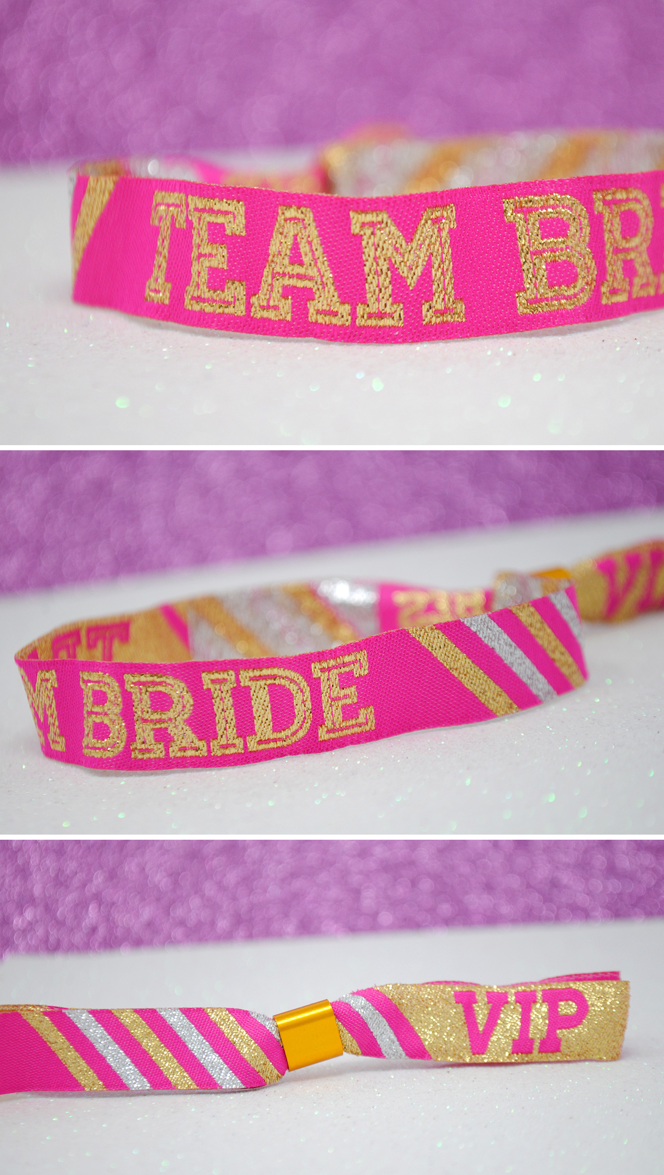 hen party cheerleader team bride wristbands accessories