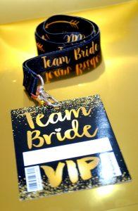 team bride hen party vip pass lanyard