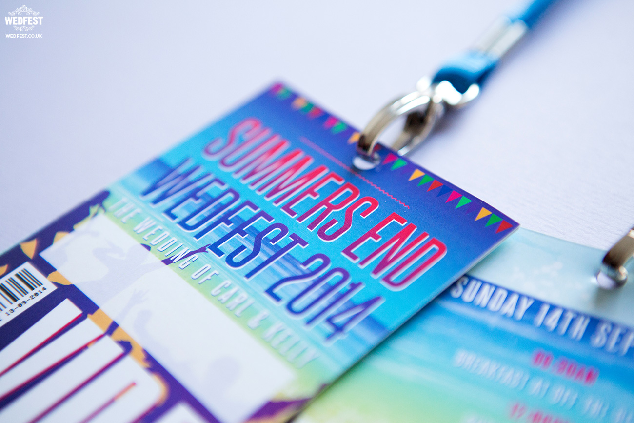 music festival wedding lanyards