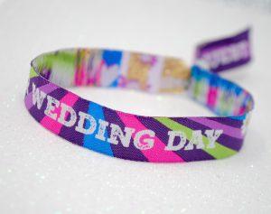 our wedding day wristbands festival weddings