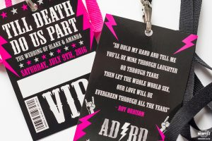 rock n roll bride wedding vip pass