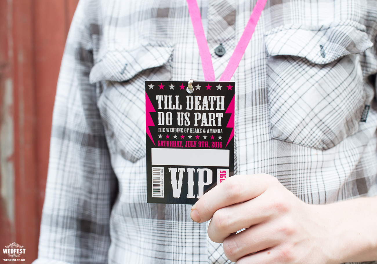 rockers wedding vip lanyard