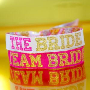 team bride hen party cheerleader wristbands