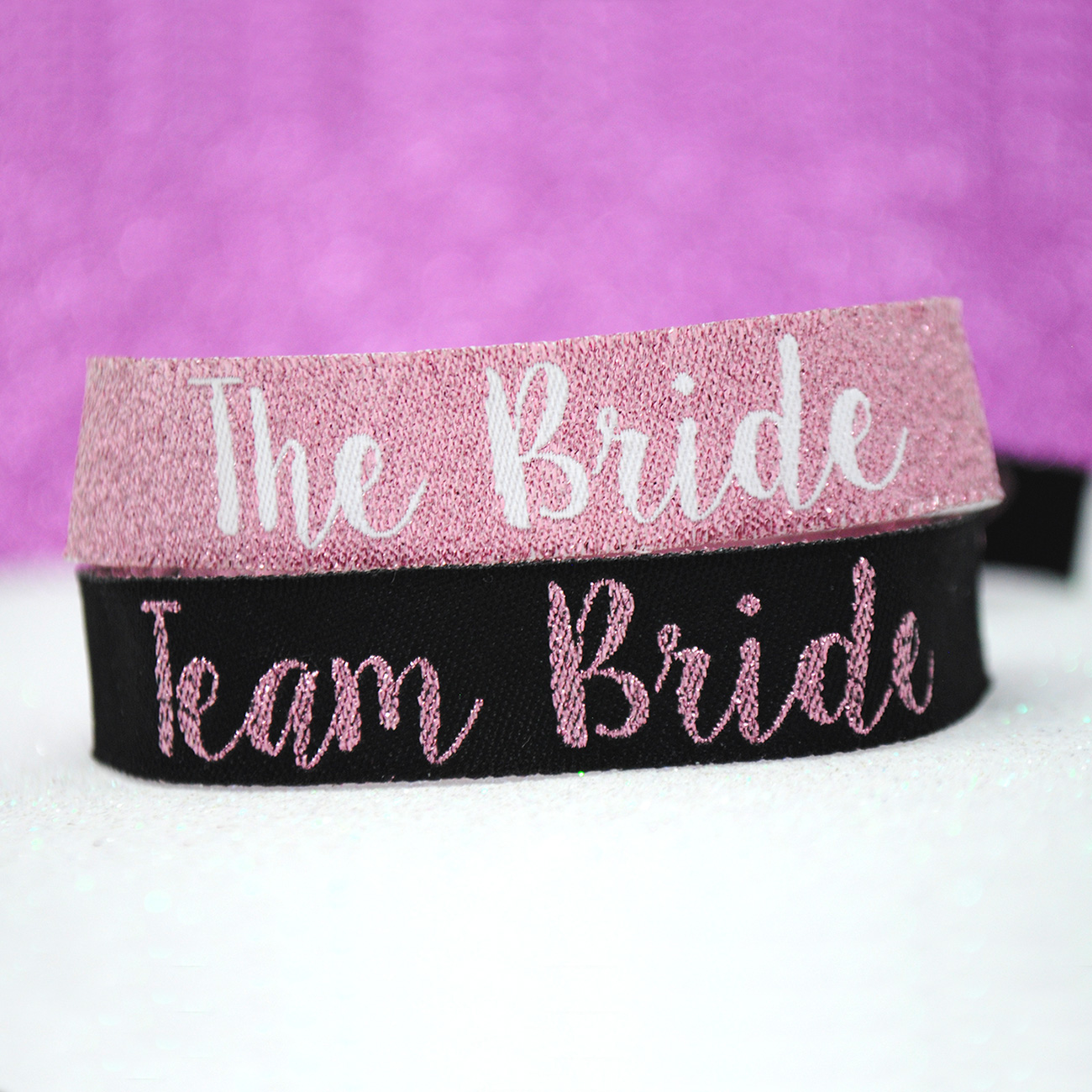 team bride rose gold hen party wristbands favours