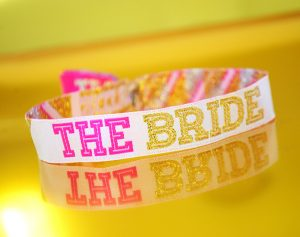 the bride hen party cheerleader wristband bracelet