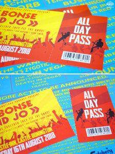 music festival ticket wedding invitations