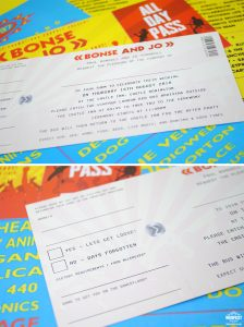 music festival ticket wedding invites