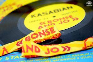 reading festival wedding stationery vinyl records wristband favours