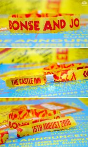 reading leeds festival custom wedding wristbands