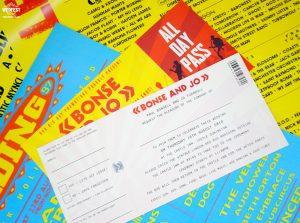 wedfest reading leeds festival wedding ticket invitations