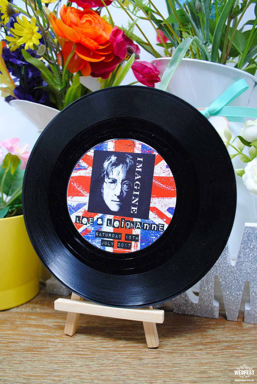 britpop vinyl record wedding table names numbers
