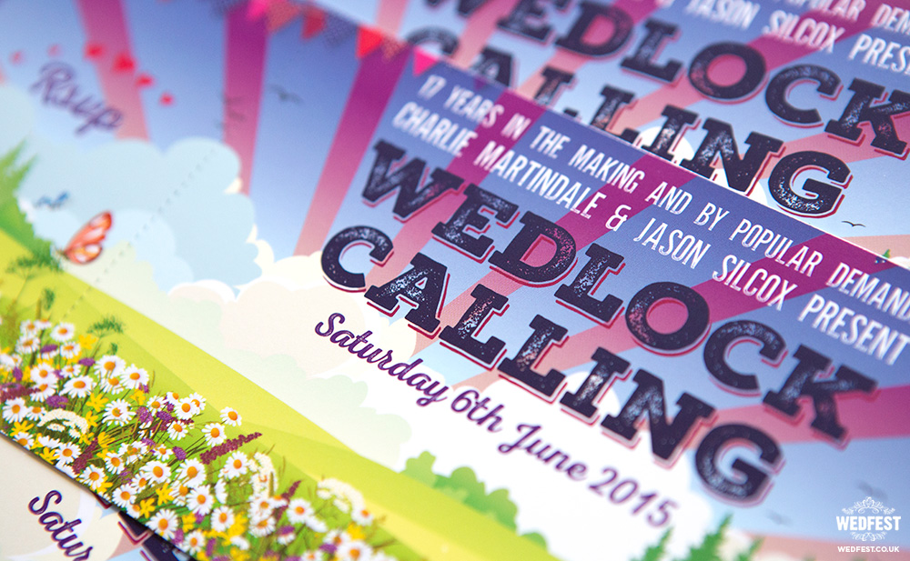 festival wedding invites ireland