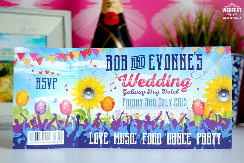 festival wedding stationery invitations galway ireland