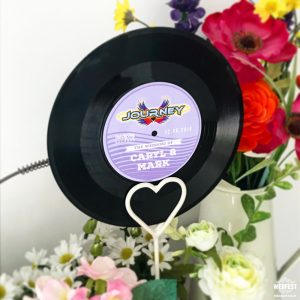 festival weddings 7 inch 45s vinyl records table names numbers