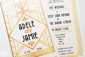 great gatsby theme wedding invitations ireland