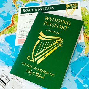 irish passport ireland wedding invitations