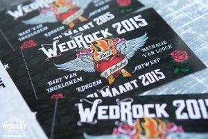 irish rock n roll wedding invitations