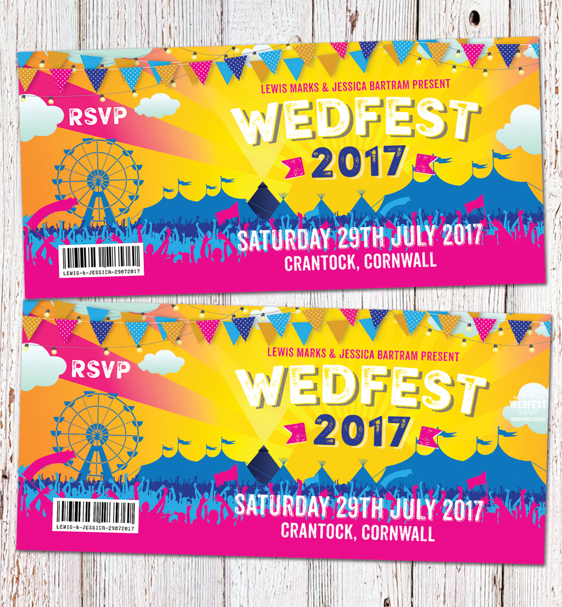 irish wedfest festival wedding invites