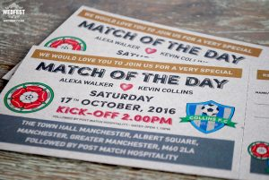 match of the day football wedding invitations ireland