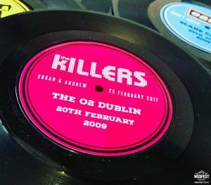 personalised vinyl record wedding table centrepiece