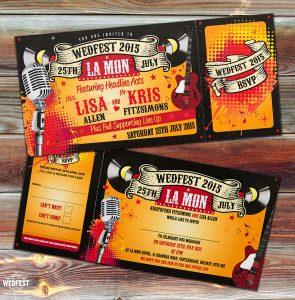 rock n roll wedding invitations ireland