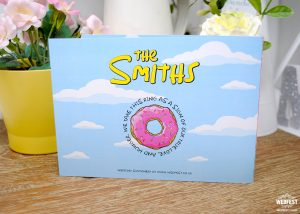 the simpsons style yellow characters wedding invitation