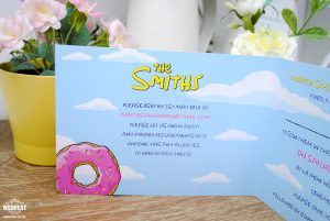the simpsons themed wedding invitations stationery