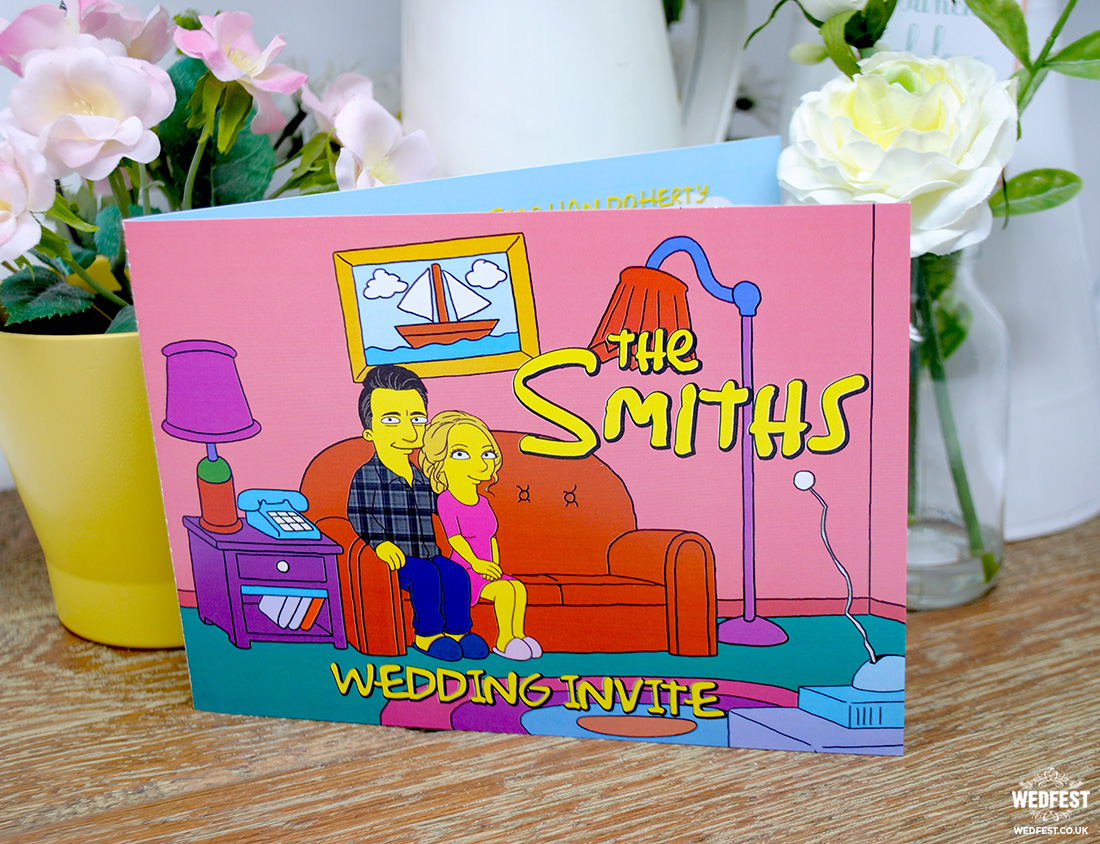 the simpsons themed wedding invitations