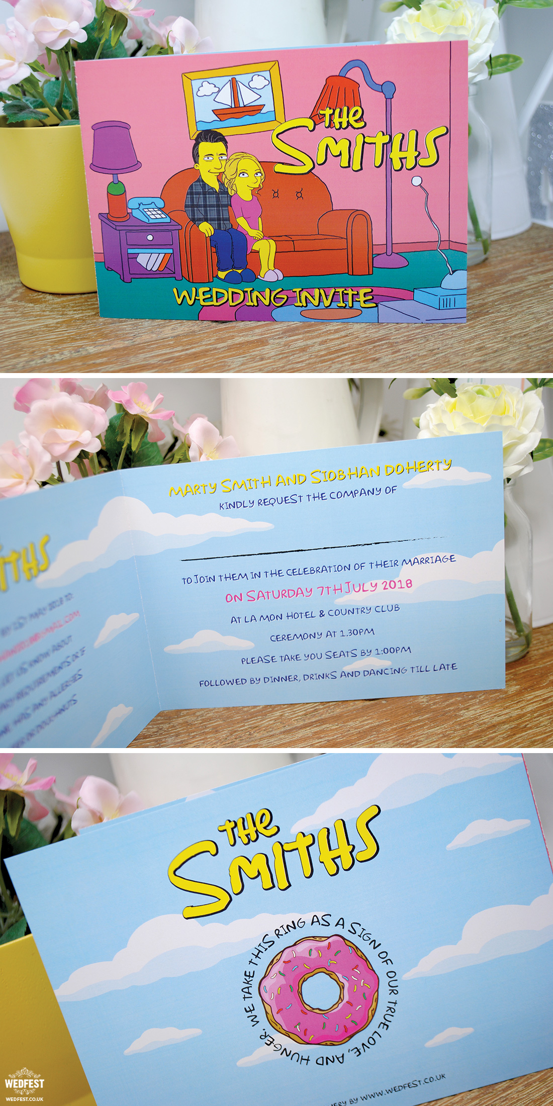 the simpsons wedding invites