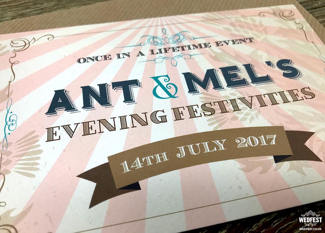 vintage ticket wedding invites ireland