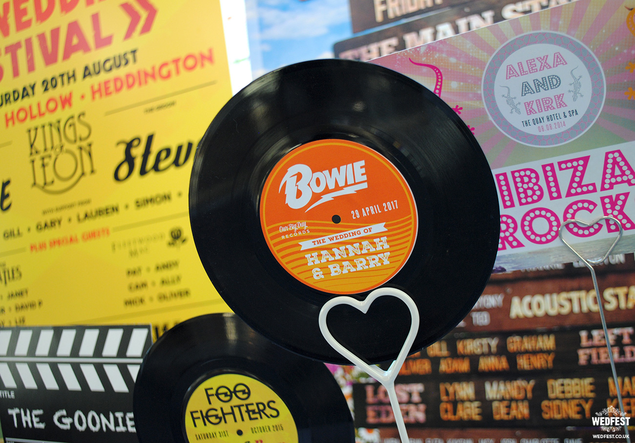 vinyl records wedding theme