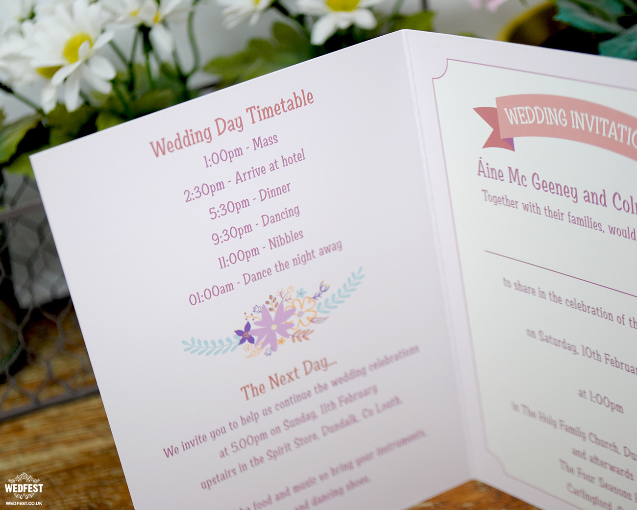 wed fest wedding invitations
