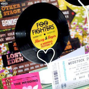 wedding table centre pieces vinyl records