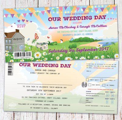 wedfest festival wedding invitations donegal ireland
