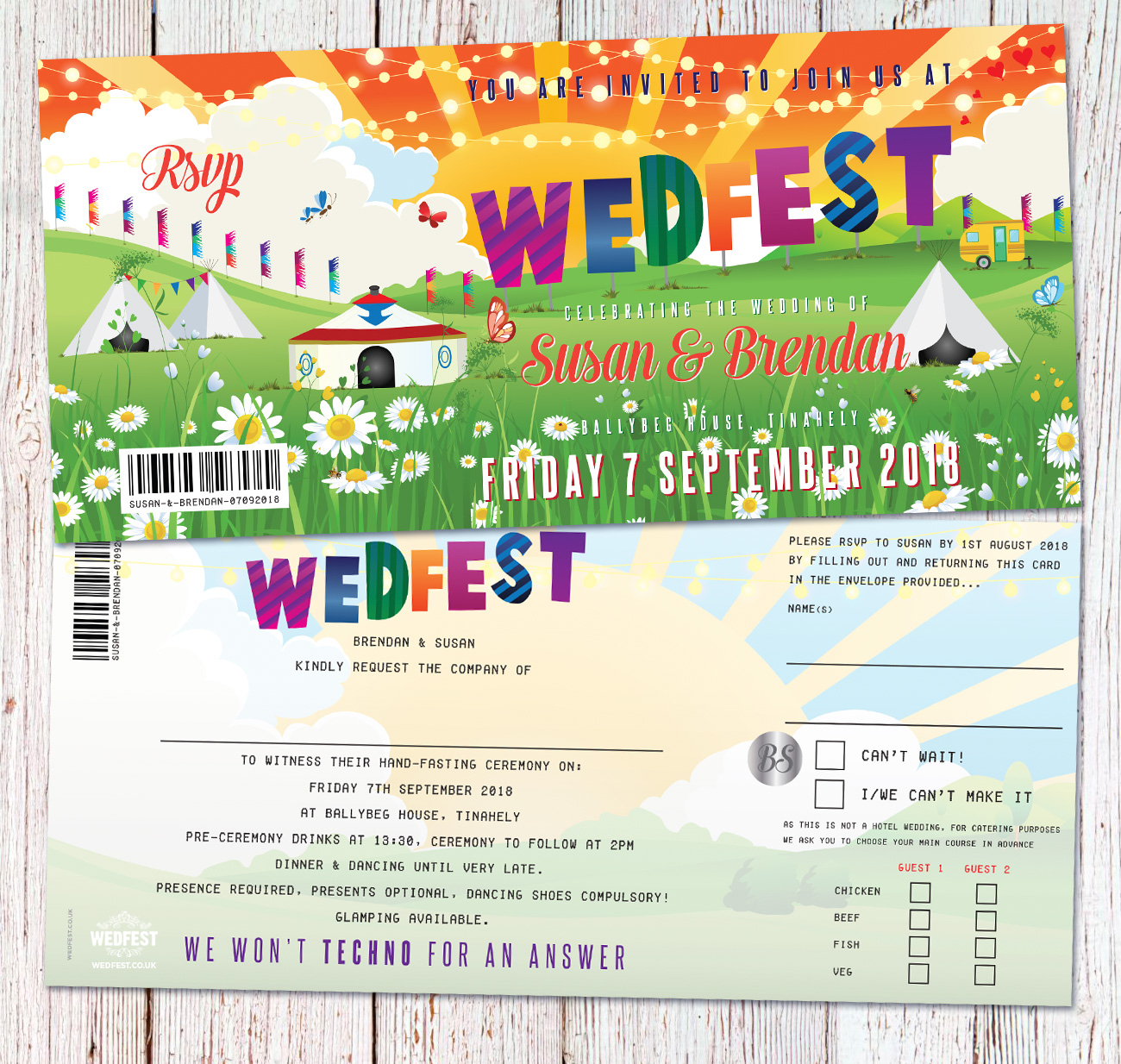 wedfest festival weddings ireland wedding invitations