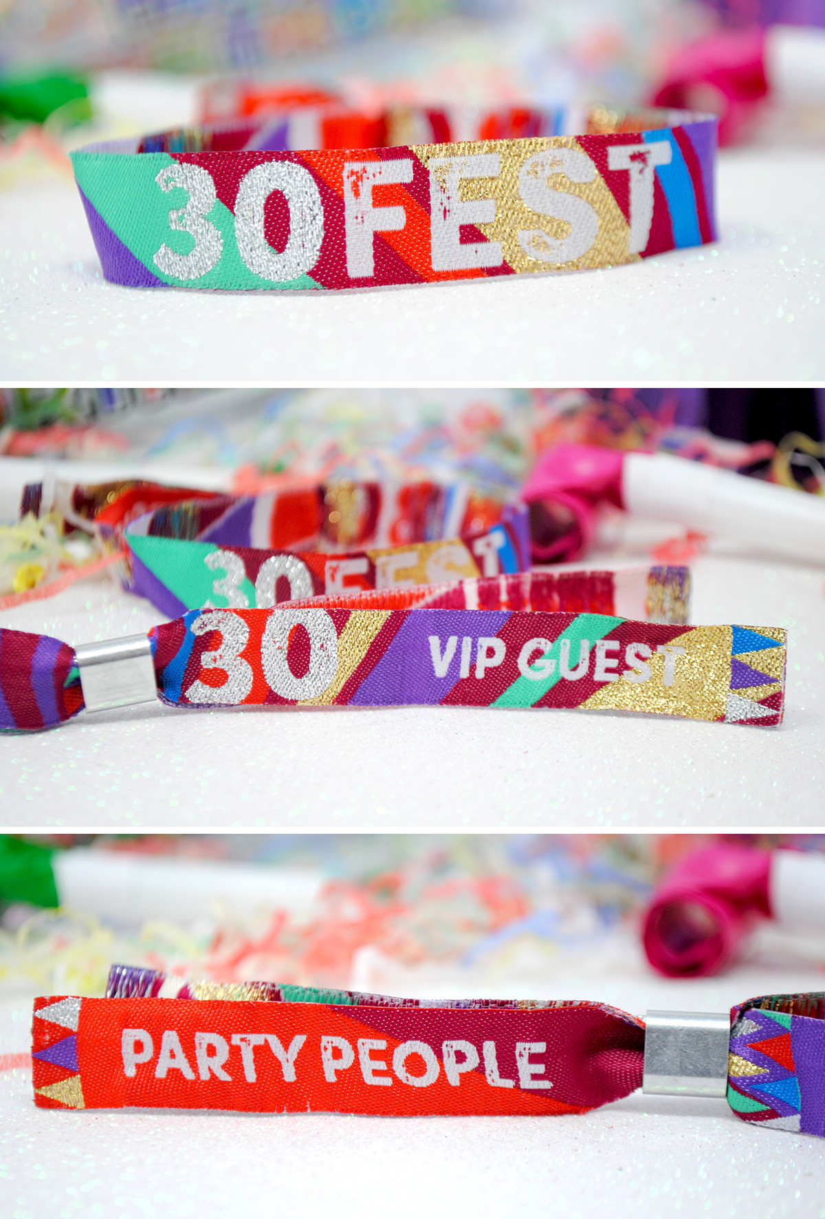 30th birthday party festival wristband
