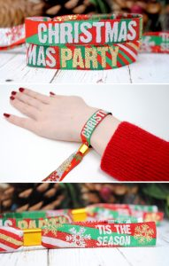 Christmas Party Bag Fillers favors wristbands