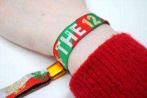 THE 12 PUBS christmas pub crawl party favour wristbands