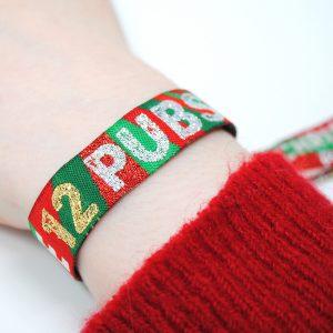 THE 12 PUBS christmas pub crawl wristbands favours