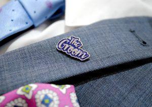 bride groom wedding day enamel lapel pin badge