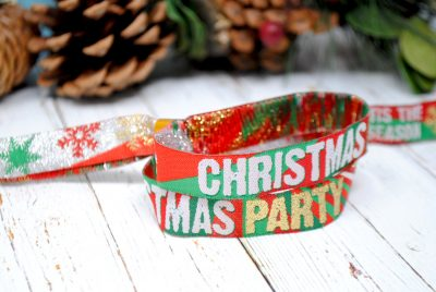 christmas party fabric festival wristbands